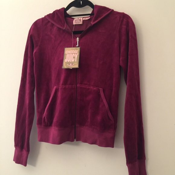 9e81af3f117c Juicy Couture Raspberry Velour Tracksuit Jacket!